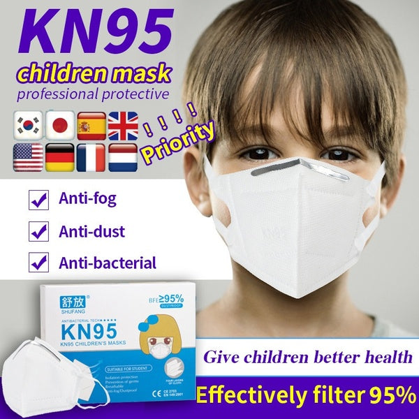 10 Pcs Children Face Mouth Mask Dustproof Anti Bacterial Anti-fog Face Mouth Masks for Kids 95% Filtration Particle Mask