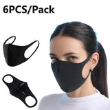 6Pcs Pack 3D Ultra-thin Anti Pollution Mask Replacement Mask Carbon Activated Air Mask Sport Mask