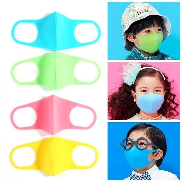 2Pcs Kid Adult Washable Earloop Mask Outdoor Cycling Anti Dust Mouth Face Mask Adult Kids Health Dustproof Anti-Dust Cold Prevention Mask