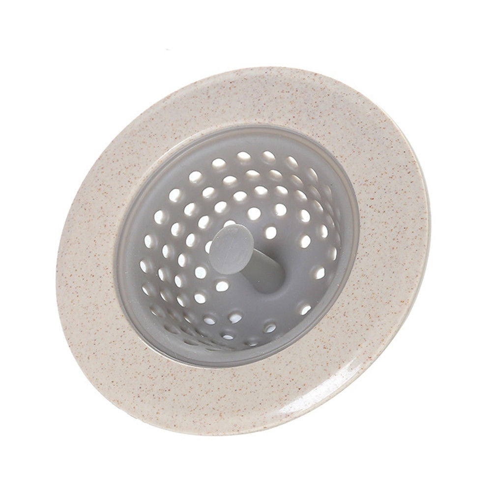 Silicone Kitchen Strainer Sewer Filter Drainage Silicone Strong Suckers Bathroom Sink Hair Tool Colander Sewer Hair Filter Strainer