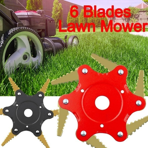 6 Steel Blades Brush Cutter Blade Trimmer Metal Blades Trimmer Head 56Mn Garden Grass Trimmer Head for Lawn Mower Garden Grass Cutter Tools Spare Parts Trimmer Garden Tools