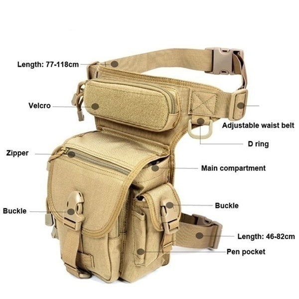 Full Platform Hot Sale!!!Newest Waterproof Tactical Military Leg Bag Men's Outdoor Sports Waist Bag Travel Hiking Camouflage Pouch