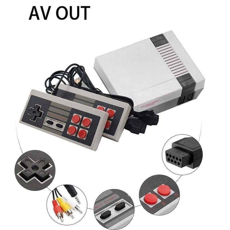 Newest 4 key Console Built-in 620 Games Av Line Games Mini Classic  Video Vintage Retro TV Game and Games handle