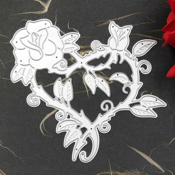 1Pcs Love Heart Metal Cutting Dies Stencil Diy Scrapbooking Embossing Album Paper Card Craft