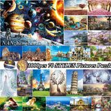 70 Styles 1000 Pieces Jigsaw Puzzles Universe Scenery Pattern Educational Toys For Kids/Adults  Gift