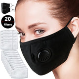 Face Mask Dust Mask Anti Pollution Masks KN95 Activated Carbon Filter Insert Can Be Washed Reusable