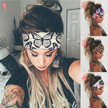 Load image into Gallery viewer, Women Fashion Print Yoga Workout Elastic Headwraps Hair Band