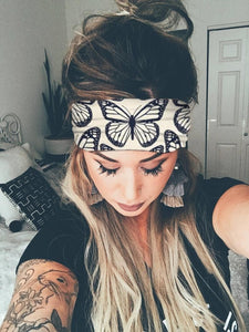 Women Fashion Print Yoga Workout Elastic Headwraps Hair Band