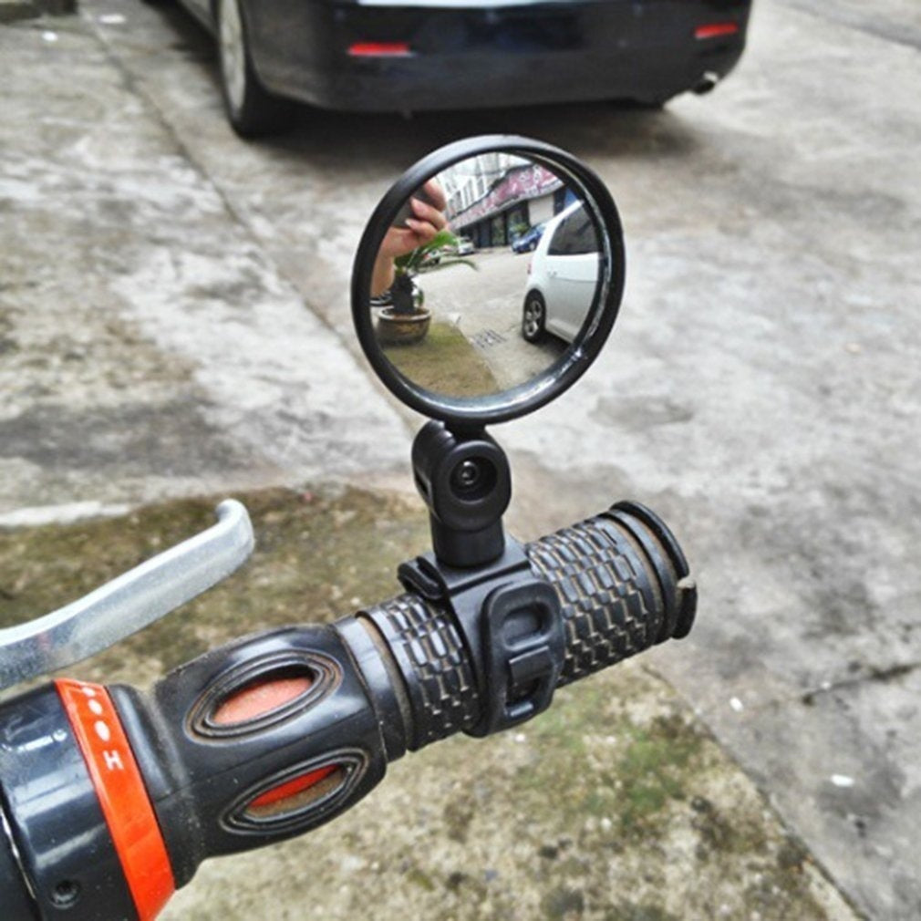 2pcs 360 Degree Rotating Bicycle Rearview Handlebar Mirrors Cycling Rear View Silicone Handle Rearview Mirror