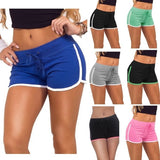Summer Sport Casual Women Drawstring Stretch Slim Skinny Mini All Cotton Sports Running Shorts