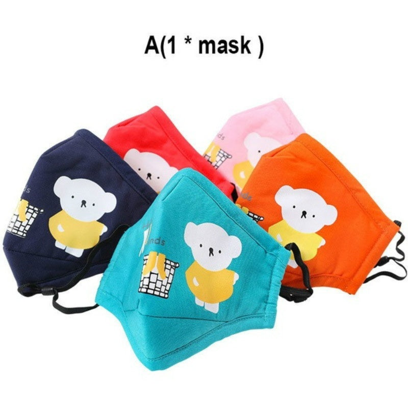 PM2.5 Filter Mouth Kids Mask Anti Haze Breathable Mask Anti Dust Mouth-Muffle Respirator Face Masks for Children