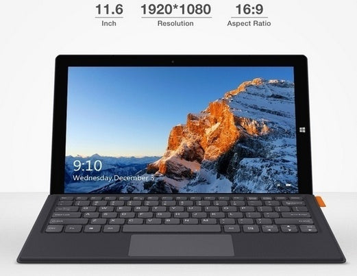 CHUWI Ubook 11.6 Inch 1920*1080 IPS Screen Win10 Intel N4100 Quad Core CPU 8GB RAM 256GB ROM Drawing Tablet Package : 1* Tablet /1*Tablet&1*keyboard /1*Tablet&1*keyboard&1*Pen)