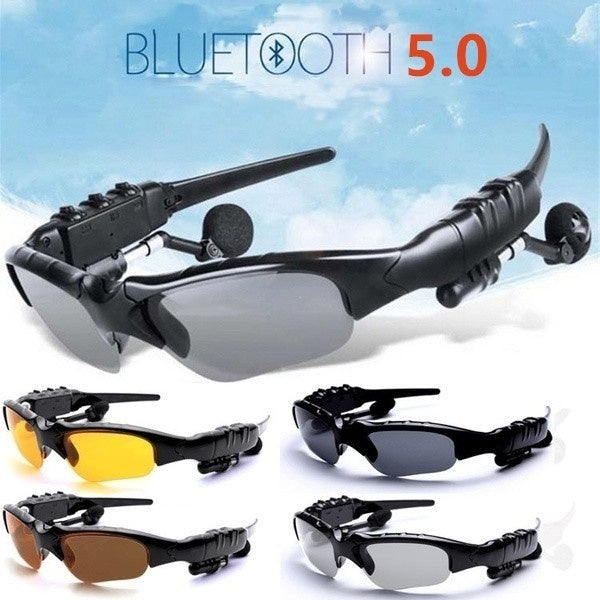 Classic Bluetooth Audio Sunglasses Smart Driving Goggles Bluetooth Sunglasses Earphones Outdoor Sport Glasses Wireless Headset with Mic