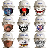 9 Kinds New Printing Mask Personality Printing Mask Windproof Mask Cotton Mask for Men and Women