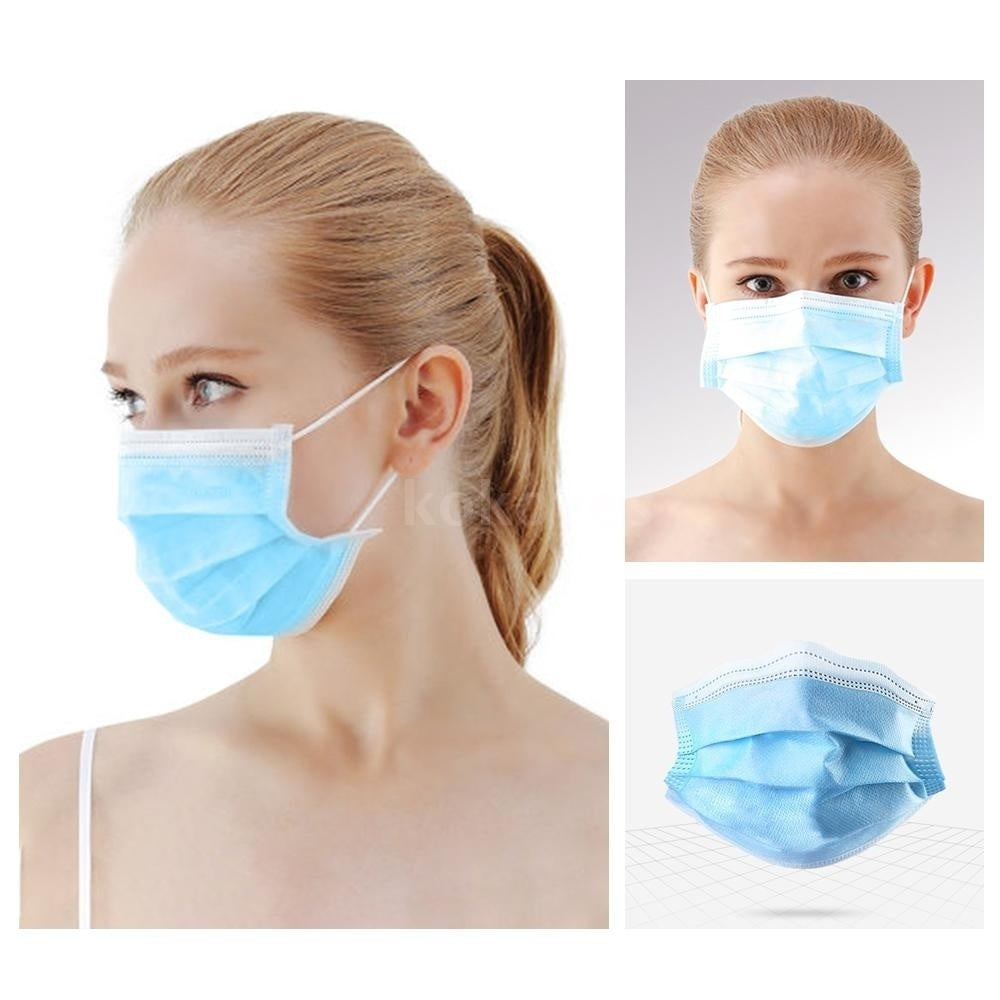 300/500PCS Disposable Surgical Mask Dust Breathable Earloop Antiviral Face Mask,Sanitary Surgical Mask Thick 3-Layer Masks