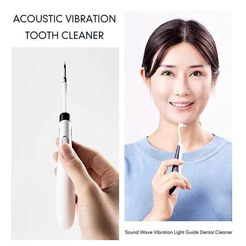 Electric Ultra-Sonic Acoustic Dental Toothbrush Vibration Tooth Cleaner with LED Light Scaler Tooth Calculus Remover Teeth Stains Tartar Tool Whitening for Oral Cleaning Dentist Use Personal Care