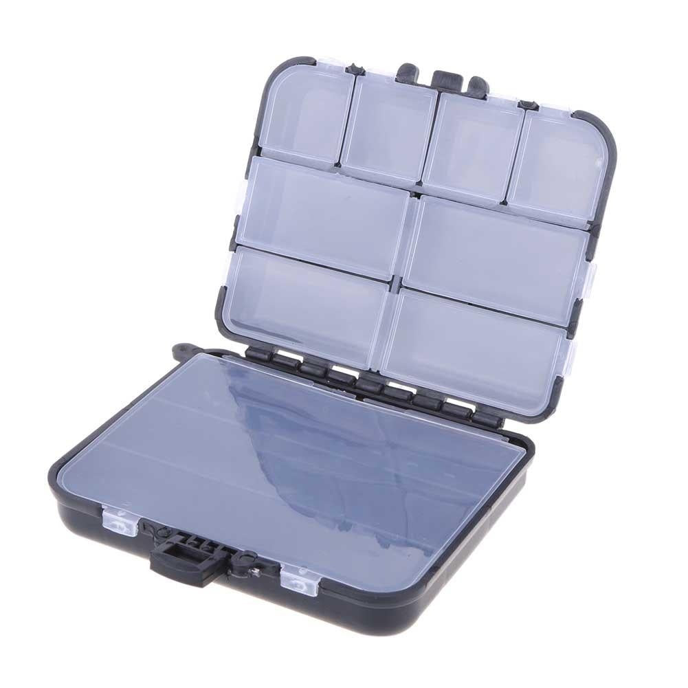 Fishing Lure Bait Tackle Waterproof Storage Box Case With 10/26 Compartments