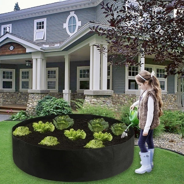 10/15/25/50/100 gallon black plant growing bag raise tall plant bed garden flower trough elevated vegetable box planting bag
