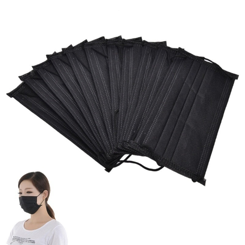 1/5/10/20/50/100pcs 3-Ply Anti-Dust Disposable Surgical Medical Earloop Face Mask Mask Black mask