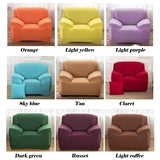 2020 NEW 1-4 Seaters Fashion Solid Color Recliner Sofa Covers  Soft Elastic Couch Slipcovers Sofa Protector 20 Colors