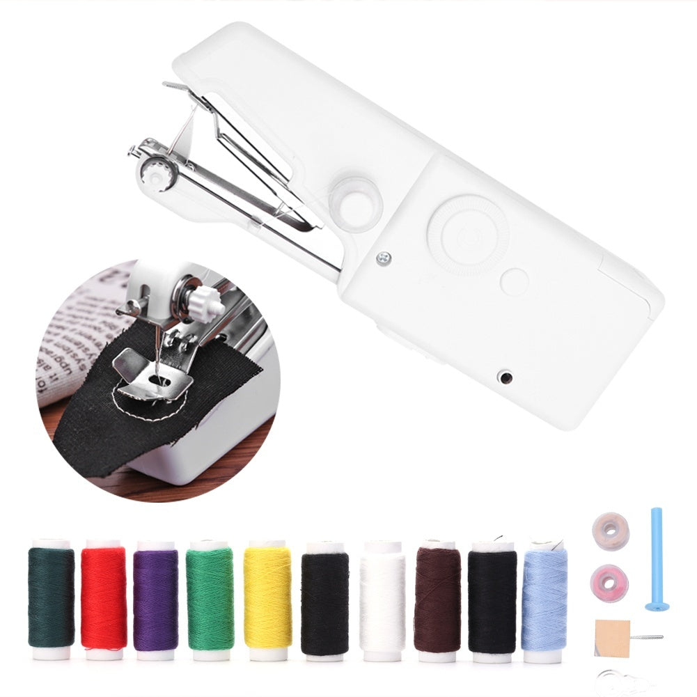 6 Styles Multi Function Mini Electric Sewing Machine Hand Holding Stitch Machine