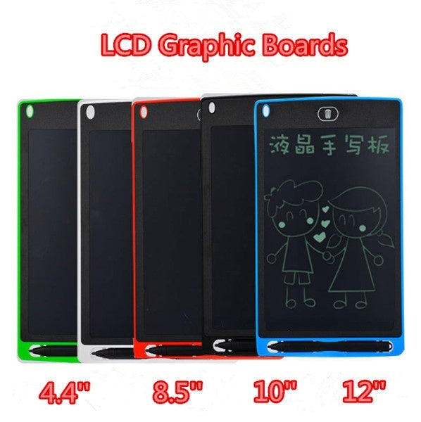 5 Colors 4.4'' 8.5''10''12'' Inch Hot Early Education Creative Writing Drawing Tablet Notepad Digital LCD Graphic Boards