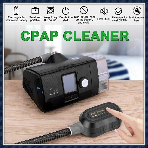 High Quality CPAP BPAP Automatic Cleaning 99% Sterilization Cleaner Disinfector Sanitizer Ozone Sterilizer Sleep Apnea Snoring