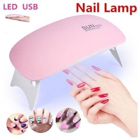 [ 6W ,UV/Sunlight,LCD,USB ] 2 Colors 6W UV LED Mini USB Nail Lamp Nail Art Gels Dryer Curing Timing Manicure Machine