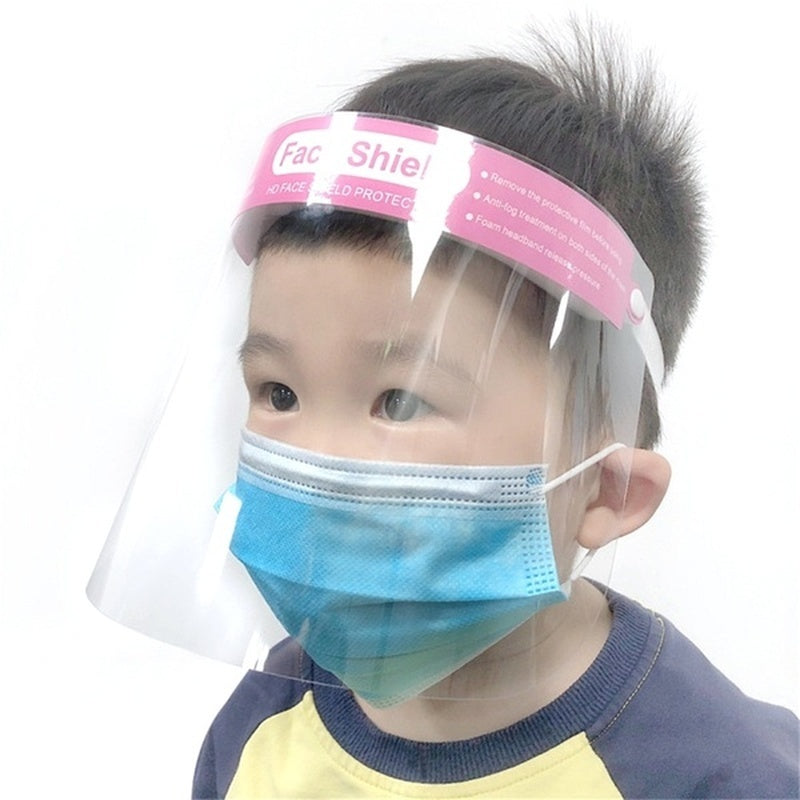 Kid Face Shield Protection Full Face Covering Visor Mask Splash Guard Safety Reusable