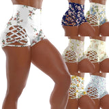Women Fashion Floral Print Spellbinding Shorts Sports Fitness Ultra Shorts Yoga Safty Panties Girl's Gym Wear Short Pant