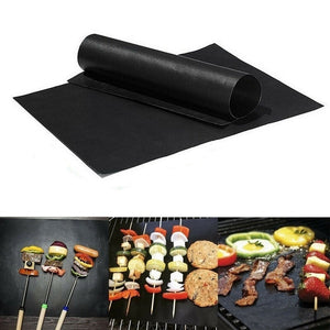 '15.75x12.99''  Reusable Non-Stick Teflon BBQ Liners Oven Grill Foil Barbecue Liner Reusable Mat for Family Party 1/2/3/5/10 Pcs'