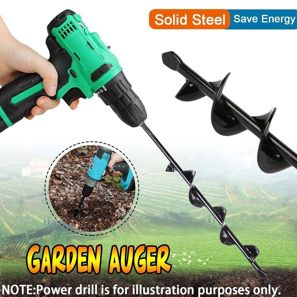 1PC Auger Drill Bit Drill Head Earth Hole Digger for Garden Yard Planting Farm Agricultural (Not Include Drill Machine)