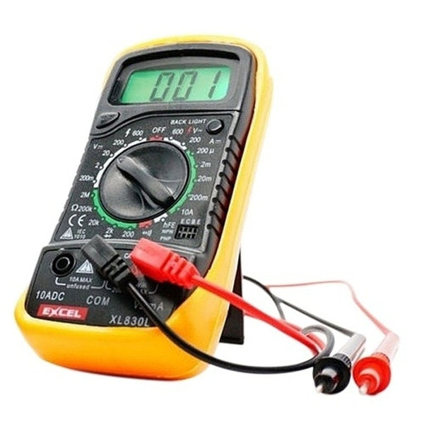 EXCEL Digital Multimeter XL830L Volt Meter Ammeter Ohmmeter Tester Yellow