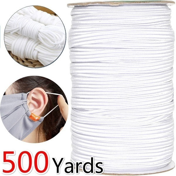 Hight Elastic Bands Spool Sewing Bandround Rope Elastic Cord White Nose Bridge Strip Cord Diy Handmade Sewing Materials