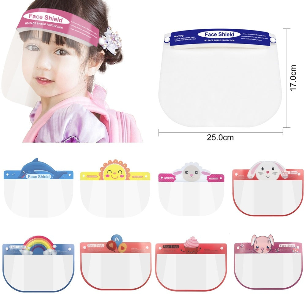 Kids Face Shield Masks Boys Girls Full Face Covering Safety Anti Droplet Face Protection Splash Guard