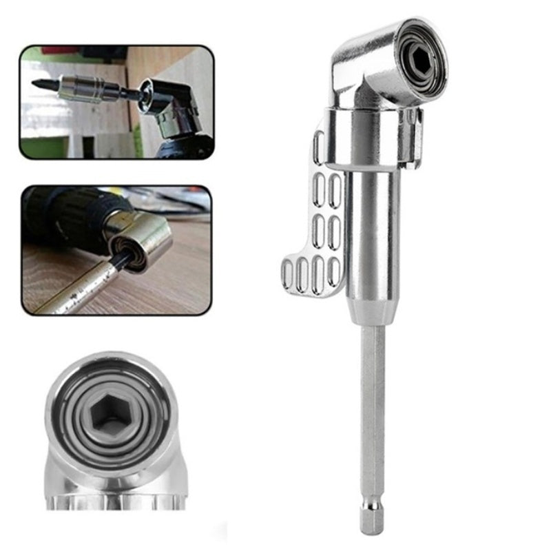 1 Pc High Quality 105 Degrees 1/4' Extension Hex Drill Bit Adjustable Hex Bit Angle Driver Screwdriver Socket Holder Adaptor Tools