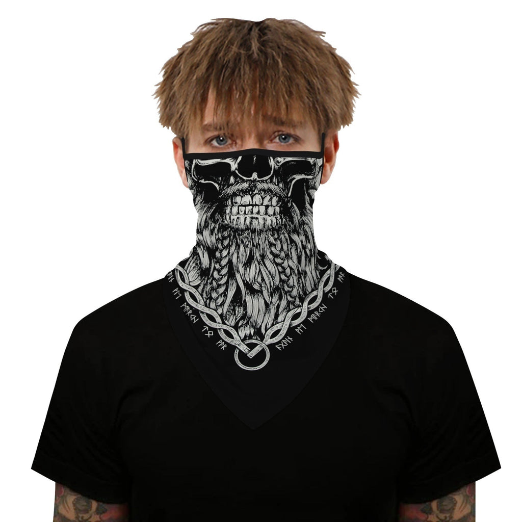 Newest Men Women Skull Ptinted Windproof Neck Scarf Breathable Face Bandana Motorcycle Face Mask Cycling Magic Scarf Headwrap Balaclava