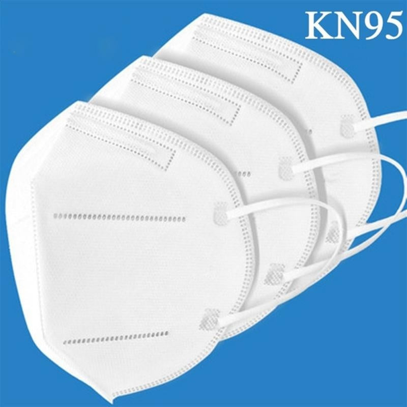 Hot 20/30/50 Pcs KN95 Dustproof Anti-fog and Breathable Face Masks Filtration Mouth Masks 5-Layer Mouth Muffle Cover