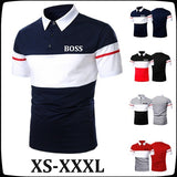2020 Men's New High-quality Casual Polo Shirt Short-sleeved Shirt Men's Pullover Printed T-shirt POLO: XS-3XL