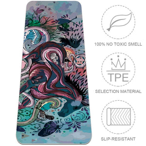 Fitness Abstract Watercolor Animal Horse Yoga Mat Best Exercise Eco Friendly - Lorvies