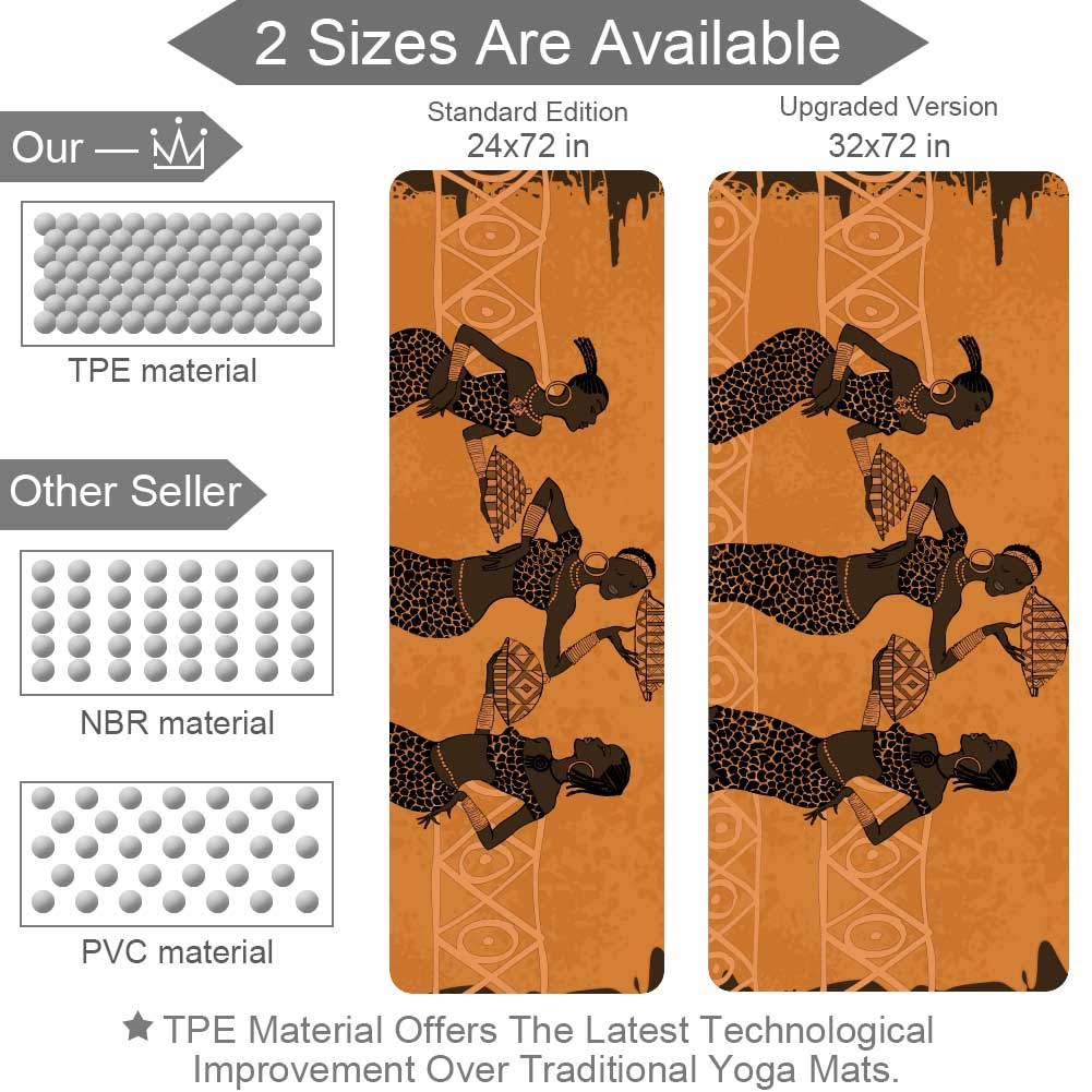 African Element Yoga Mat Home Gym Flooring Essential Eco - Lorvies
