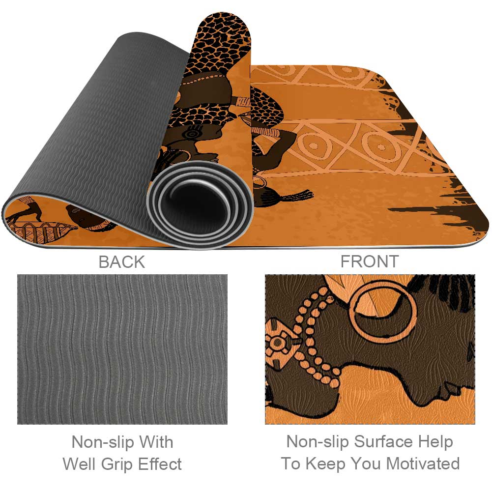 African Element Yoga Mat Home Gym Flooring - Lorvies