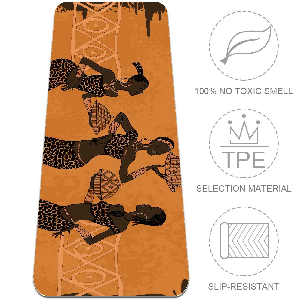 African Element Yoga Mat Home Gym Flooring Essential Eco Friendly - Lorvies