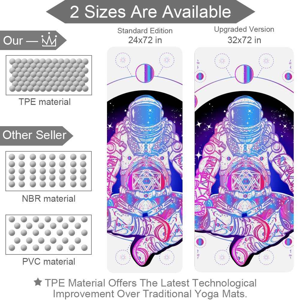 Astronaut In Outer Space Yoga Mat