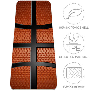 Eco Friendly Basketball Texture Yoga Mat For Bad Knees - Lorvies