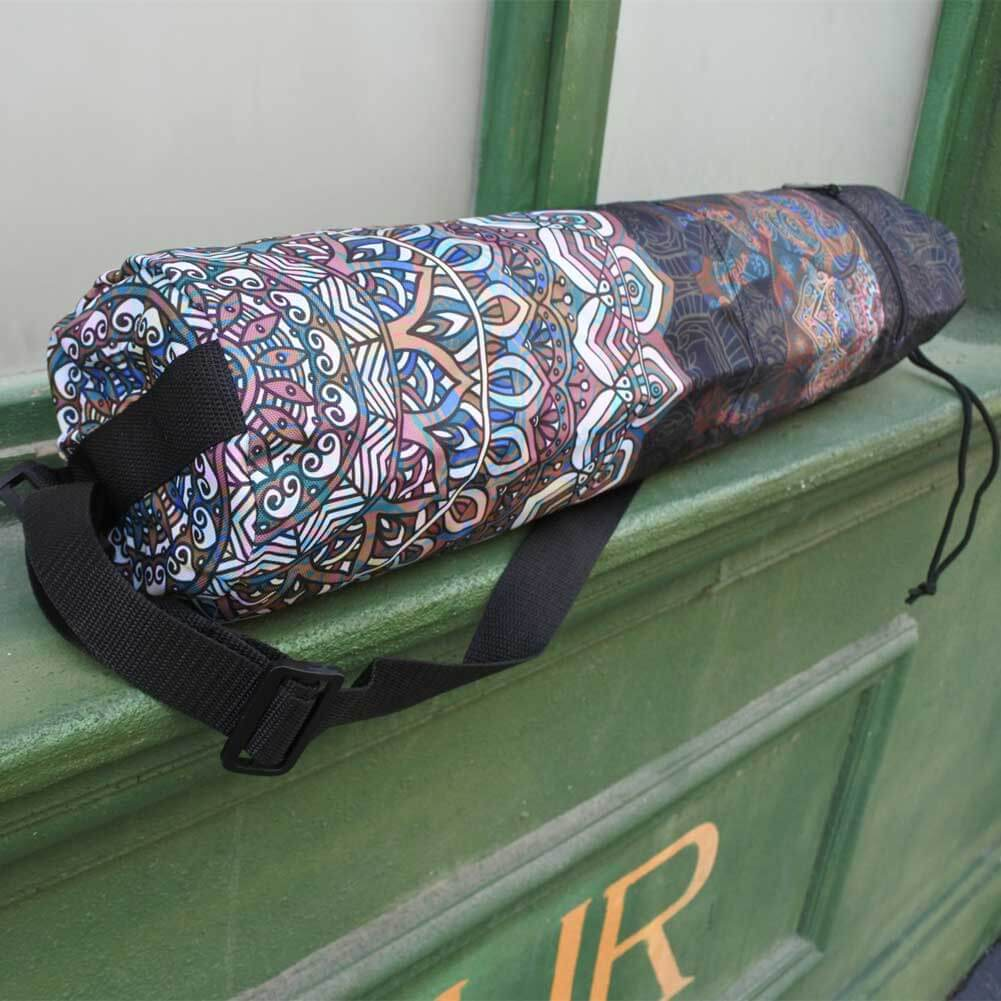 Black Elephant Mandala Yoga Mat Bag