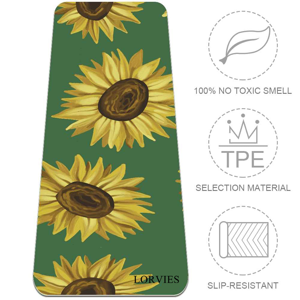 Black Eyed Susan Yoga Mat Essential for Beginner - Lorvies