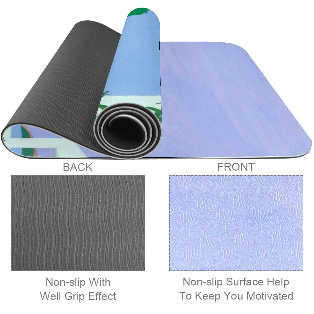 Blue Purple Painting Yoga Mat