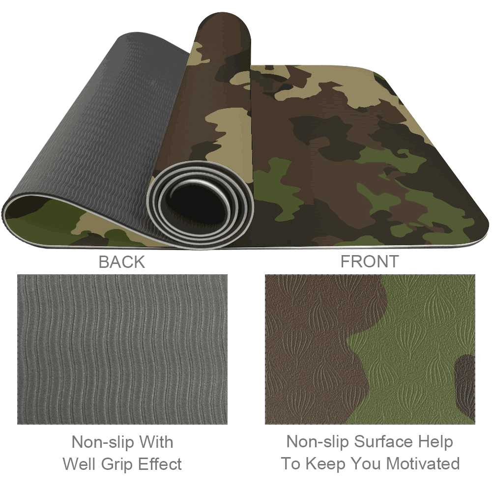 Exercise Camouflage Gym Mat Hot - Lorvies