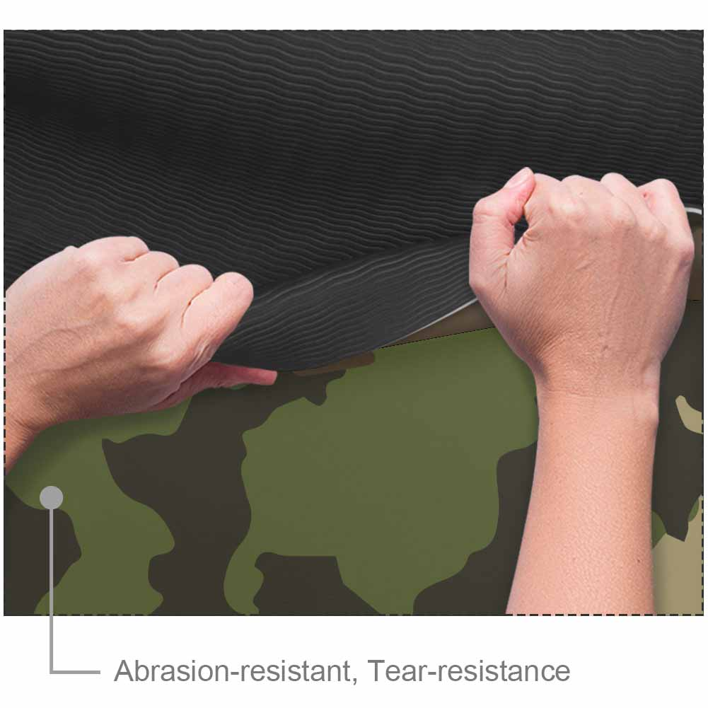 Eco Friendly Exercise Camouflage Gym Mat with Strap - Lorvies